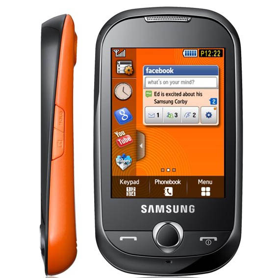 Corby Affordable Stylish Touch Phone From Samsung Mobile